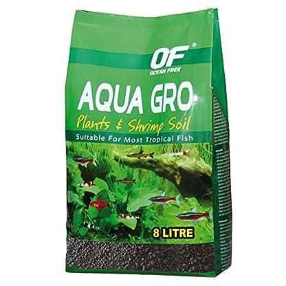 OCEAN AQUA GRO BLACK PLANT & SHRIMP SOIL SAND 8L 6.7KG AQUARIUM FISH TANK COMPLETE SUBSTRATE 1