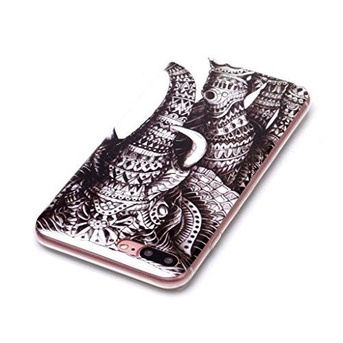 Custodia Cover Per Apple iPhone 7 Plus / iPhone 8 Plus 5.5 , WenJie Macchina fotografica Trasparente Silicone Sottile Back Case Molle di TPU Trasparente per Apple iPhone 7 Plus / iPhone 8 Plus 5.5 XS4