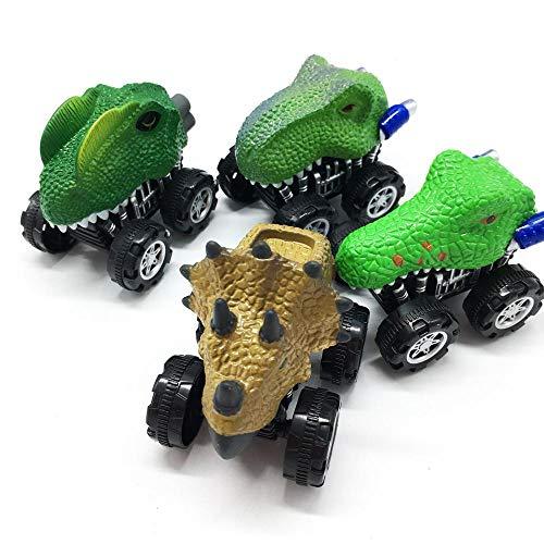 r-Autos, niedliches realistisches Tier-Auto-Spielzeug mit großem Reifenrad, Monster Fahrzeug-Spielset, Partyzubehör, kreatives Geburtstagsgeschenk für Kinder Dinosaurier ()