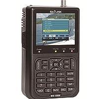 جهاز تتبع الأقمار الصناعية الرقمي من سات لينك مزود بشاشة عرض ال سي دي قياس 3.5 بوصة ومعيار دي في بي-اس واف تي ايه سي ونطاق كيه يو - WS-6906