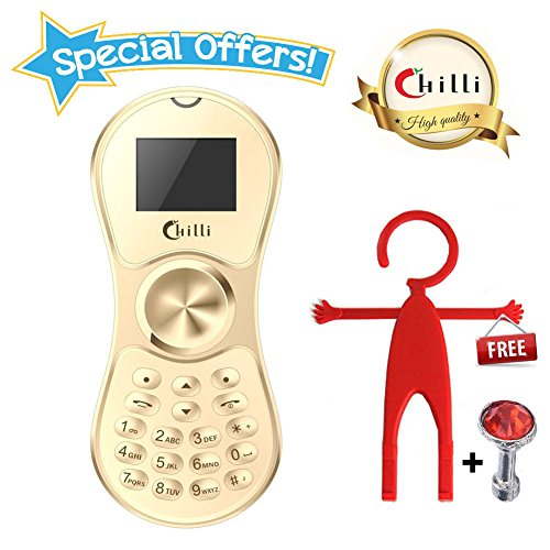 Chilli Spinner Phone World's Slimmest Mobile Phone Cum Spinner Credit Card Sized - Gold