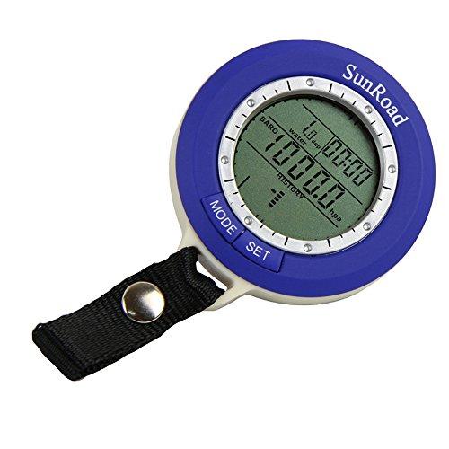 Docooler Mini Baromètre de Pêche Numérique LCD Altimètre Thermomètre Etanche Multi-Fonction