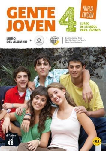 Gente Joven 4 Nueva edición libro del alumno + CD, Nivel B1.1 por VVAA