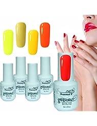 Beaunail Ensemble de vernis à ongles gel Collection, UV LED Lumineux Soak Off Vernis à ongles Coffret cadeau pour...