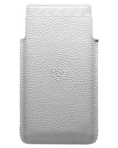 Pocket-pc-leder (BlackBerry Leder Pocket Hülle für Rio weiß)