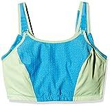 Glamorise Sport-BH Damen Verstellbarer, bügelloser Größen Nr.1166, Blau/Grün, 105H(Herstellergröße: 105 H)