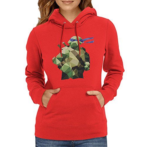 TEXLAB - Poly Tortoise - Damen Kapuzenpullover, Größe L, (2017 Mutant Teenage Ninja Donatello Turtles)