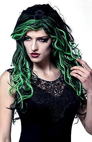 Noir Sorcière Perruque - Boland 86049–Marais sorcière perruque cheveux long, avec