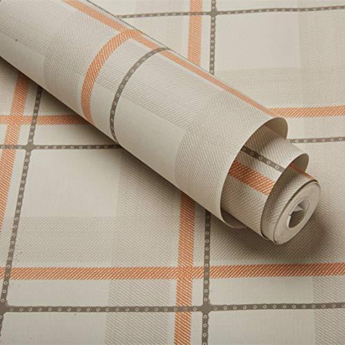 Dekorative Hintergrundtapete des nordischen unbedeutenden Inswind-Tapetenschlafzimmers warmen England-Plaid-Tapeten Orange pink 53cm*10m -