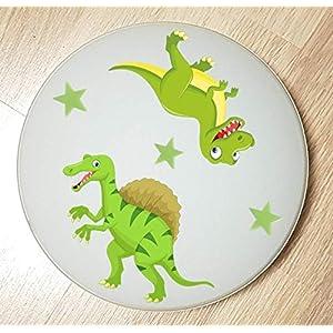 Deckenleuchte/Wandlampe * DINOS Dinosaurier 1 grün * auch LED – mit/ohne Name