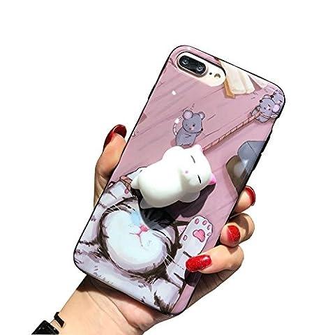 Coque iPhone 6/6S, 3D Mignon Chat Anti-stress, Housse étuis Ultra-mince