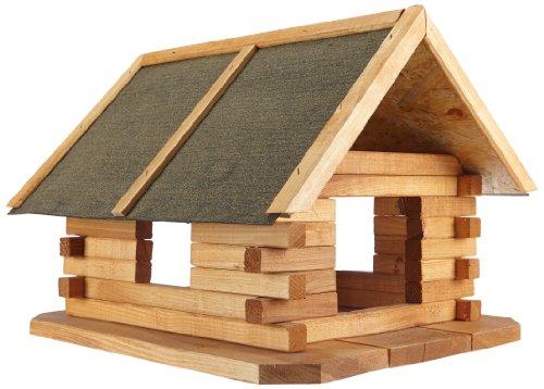 Preisvergleich Produktbild Elmato 10192 Vogelhaus,Winterfutterhaus-Blockhaus Fichte