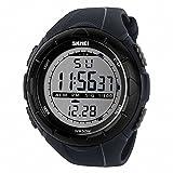 TTLIFE 1025 esterna degli uomini Orologi sportivi digitali multifunzione portato orologio da polso 50m Water Resistant (Grigio)