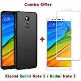Like It Grab It [Full Coverage] 4 Cut Rubberised Matte Hard Case All Sides Protection 360 Degree Sleek Back Cover For Xiaomi Redmi Note 5 / Mi Note 5 / Redmi Note5 + 2.5D Curved 3D Edge To Edge Full Screen Tempered Glass Mobile Screen Protector (White)