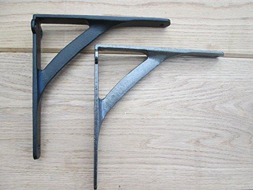 Ironmongery World® Gusseisen Uni gewölbte Old Style Regal Unterstützung Buch Spüle WC-Spülkasten Halterung (Silber)