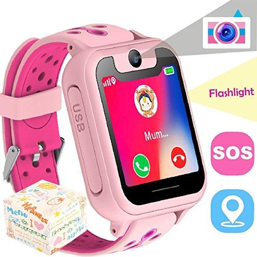 Freigeschaltet Für Kinder Handy (The perseids Kidswatch – Kinder GPS Telefon-Uhr, SOS Smartwatch mit Ortung, Tracker & Phone - Tracking App, Deutsche Sprache (Pink))