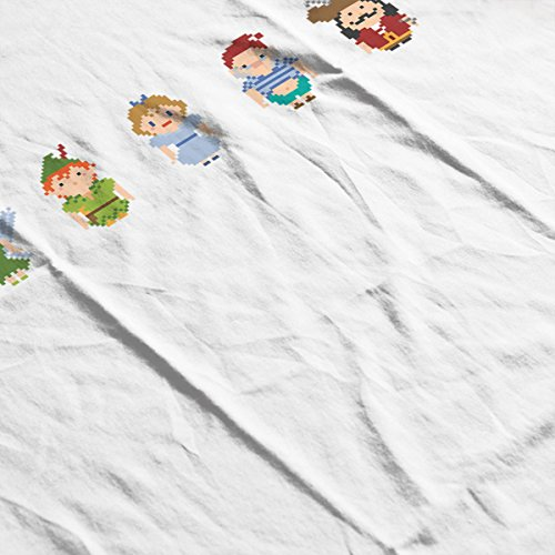 Peter Pan All Pixel Characters Men's T-Shirt White