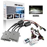 Sidaqi H1 Kit de conversion au xénon HID 6000K + Deux Canbus ballasts HID ultra-fins de 55W pour phare de voiture