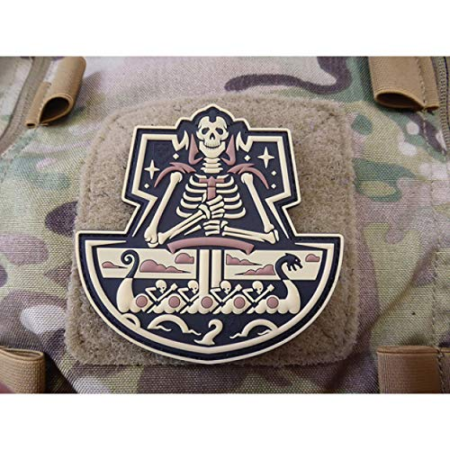 Jackets To Go JTG Viking GhostShip Skull 3D PVC Patch Aufnäher Abzeichen - Desert