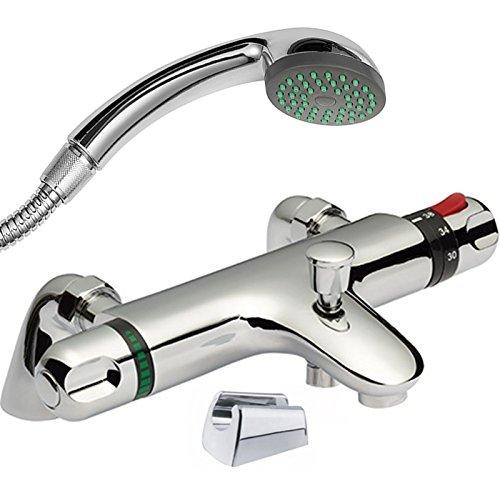 Miscelatore Termostatico Per Doccia Bagno.Enki Miscelatore Termostatico Per Vasca Da Bagno Doccetta Supporto