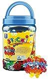 Feuchtmann Spielwaren 621.0558 - Stecki runde Stecksteine in den Grundfarben, ca. 600 g im Schraubbehälter