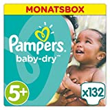 Pampers Baby Dry Windeln Gr. 5+ 13-27 kg Monatsbox 132 St.