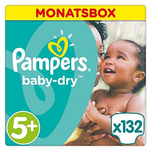 Preisvergleich Produktbild Pampers Baby-Dry Windeln, Gr. 5+, 12-17kg, Monatsbox, 1er Pack (1 x 132 Stück)
