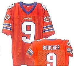 Bobby Boucher Waterboy Football Jersey Movie TV Show Adam Sandler The Waterboy Mud Dogs Football Jersey Orange from Movie Jersey