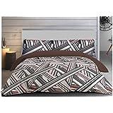 """ADP Home - Funda nórdica, juego de 3 piezas """"sticks"""" (funda de almohada, bajera ajustable y funda nórdica), diseño único, cama de 135 cm"""