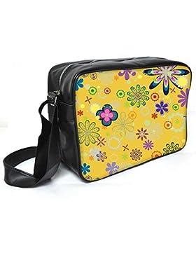 Snoogg Lite Grün Muster Leder Unisex Messenger Bag für College Schule täglichen Gebrauch Tasche Material PU