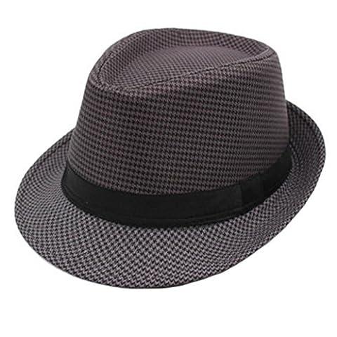 Modische Fedorahutes Sonnenhut Sommer Hut, Mütze, Schwarz-Grau