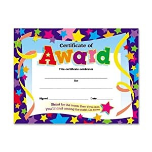 30 certificates of award star certificate pack amazonco