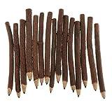 MagiDeal 15 Stück Zweig und Zweig Graphit Bleistifte Holzkohle Skizzen Bleistifte, Papier Stifte für Kinder Erwachsene Künstler