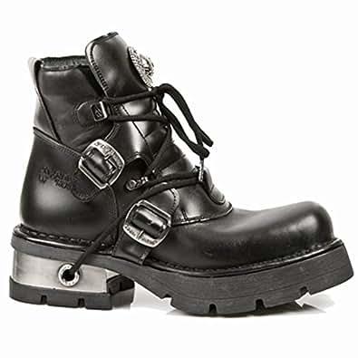 New Rock Metallic Black Boots M.988-S1