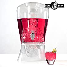 Ricky Drink Cocktail Dispensador de Bebidas, Blanco, 23x25x40 cm