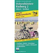 Ostseeküsten-Radweg 2 Lübeck-Usedom: Leporello Radtourenkarte mit Ausflugszielen, Einkehr- & Freizeittipps, wetterfest, reissfest, abwischbar, GPS-genau. 1:50000 (Leporello Radtourenkarte / LEP-RK)
