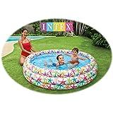 Generic Kid's PVC Intex Fancy Swimming Pool, 5feets (+3 Years) (56440, Multicolour)