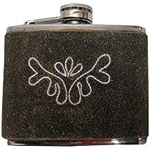 Flasque Rustico 5oz avec housse en cuir et bois de cerf Thème