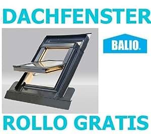 Balio avec cadre de fixation pour fenêtre de toit pivotante volets roulants et store enrouleur occultant (78 x 112 CM (groupe VKR Rooflite toit)