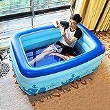 Inflatable Bath Home Faltende Badewanne Erwachsene aufblasbare Badewanne Dicke Isolierung Haushalt Badepool (Farbe: Blau, Größe: 150 cm)