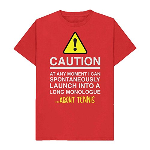 Caution - at Any Moment I Can Monologue About. Tennis - Hobbies - Tshirt - Shaw T-Shirts - Sizes Small to 2XL