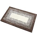 JUNMAONO Polyester Teppiche/Teppich/Matte/Fußmatte/Fußmatten/Bodenmatte/Bodenfliese/Schmutzmatten/Fußabtreter/Fußabstreifer/Fußbodenmatte/Sauberlaufmatte/Schmutzfangmatte (Brown)