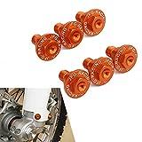 JFG RACING 6 STÜCKE Motorrad Gabel Schutz Schrauben Schrauben Für EXC EXCF SX SXF XC XCF XCW XCFW 50-530 FREERIDE 250F 250R 350 (Orange)