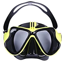 zhang-hongjun,Máscara de Buceo con Gafas de Buceo de Buceo con Vista Amplia para Nadar(Color:Amarillo)