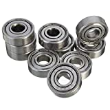 Seasiant India 10pcs 8mm Inner Size Carbon Steel Deep Groove Ball Bearing Single Item.