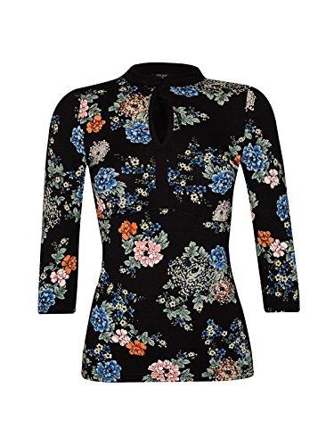 Vive Maria Shanghai Noon Maglietta Nero Allover Print nero M