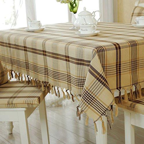 Tischdecken LINGZHIGAN Stoff Baumwolle Hanf Tuch Art Einfache rechteckige Tee Tisch Hochzeit Restaurant Party Tisch (Dieses Produkt verkauft) (größe : 150 * 220cm)