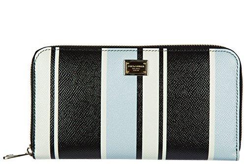 Dolce&Gabbana Damen Geldbörse Portemonnaie Echtleder Geldbeutel Bifold zip aroun (& Gabbana Dolce Damen-geldbörsen)