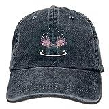 AINCIY Paris Music - Denim Hat - Casquettes de Baseball ajustées pour Homme Ajustables...
