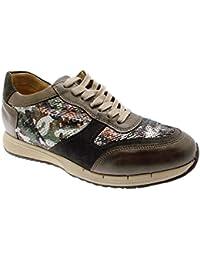 Article C3717 orthopédique femme de chaussures taupe militaire sneaker